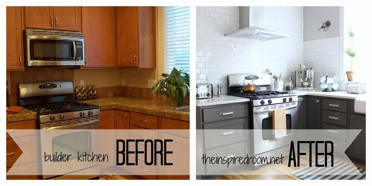 Diy small kitchen cabinets remodel before and after for Diy small kitchen remodel