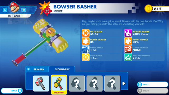 Mario + Rabbids Kingdom Battle Bowser Basher hammer
