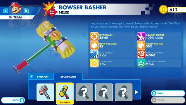 Mario + Rabbids Kingdom Battle Bowser Basher hammer