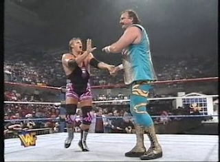 WWF / WWE - IN YOUR HOUSE 7 - GOOD FRIENDS BETTER ENEMIES - Jake Roberts works over Owen Hart