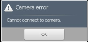 cant connect to camera error