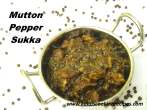 Mutton PepperMilagu Sukka