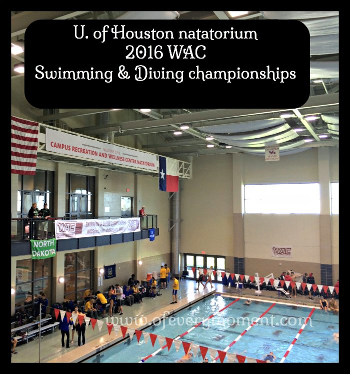 The U of Houston Natatorium is beautiful