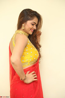 Actress Ashwini in Golden choli Red saree Spicy Pics ~  102.JPG