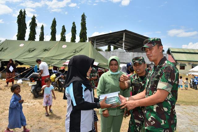 Danrem 141/Tp Bersama Rombongan Serahkan Bantuan dan Kunjungi Lokasi Gempa Tsunami Palu