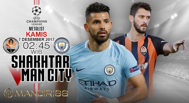 Manchester City akan menghadapi Shakhtar Donetsk pada matchday keenam Grup F Liga Champio Berita Terhangat Prediksi Bola : Shakhtar Donetsk Vs Manchester City , Kamis 07 Desember 2017 Pukul 02.45 WIB