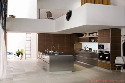 Modern Kitchen In Wooden Design Finish