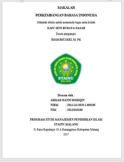 Makalah Perkembangan Bahasa Indonesia ~ SUARA KAMPUS
