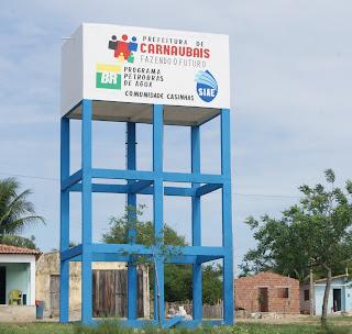 Resultado de imagem para foto da caixa d'água do casinhas carnaubais