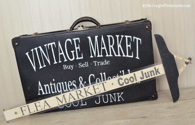 Vintage Market Flea Market Signs