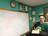 Jolly Blackburn and his Whiteboard of Ideas