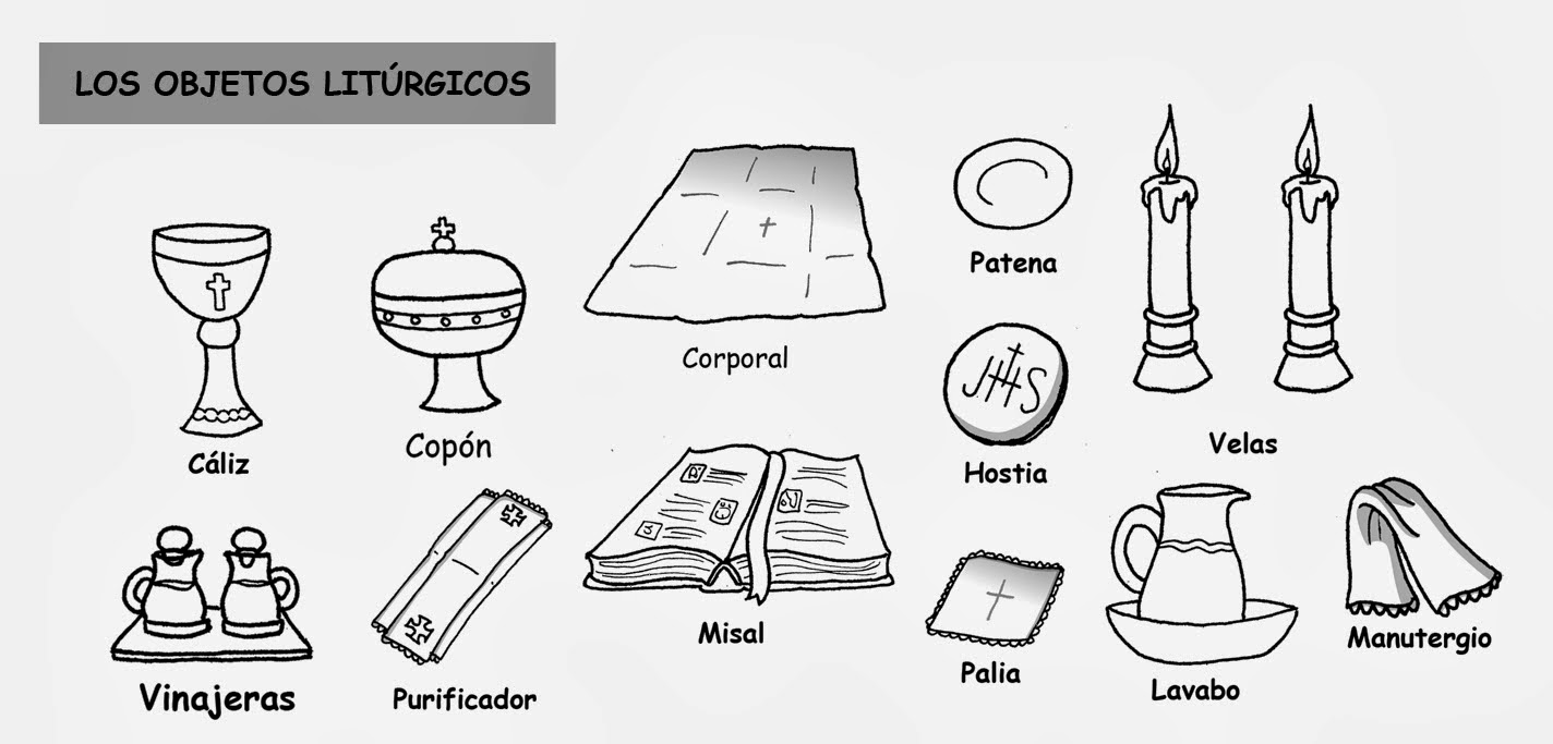 Objetos litúrgicos (color) | Catequesis | Pinterest | Color ...