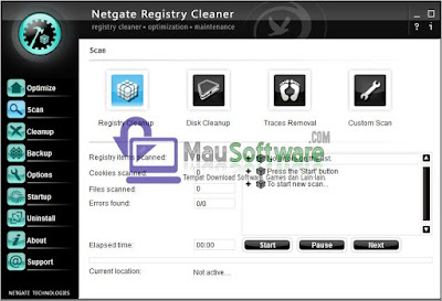 software utilitas registry, cara mendefrag registry, menghapus file registry dengan benar menggunakan software netgate registry cleaner, mengoptimalkan registry pada komputer atau laptop, backup file registry, restore file registry, optimalkan komputer dari file registry