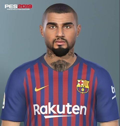 PES 2019 Faces Kevin-Prince Boateng by Messi Pradeep