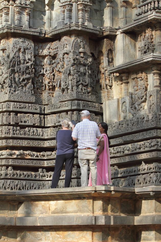 So many Hindu mythological stories portrayed on the walls of the Hoysaleswara temple, Halebid