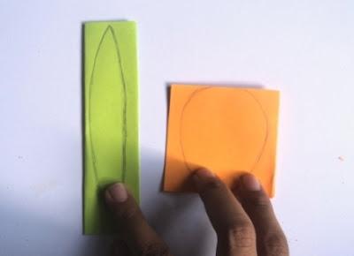 Gambar 1 kertas origami 2 warna