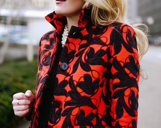 how to style a bold statement coat