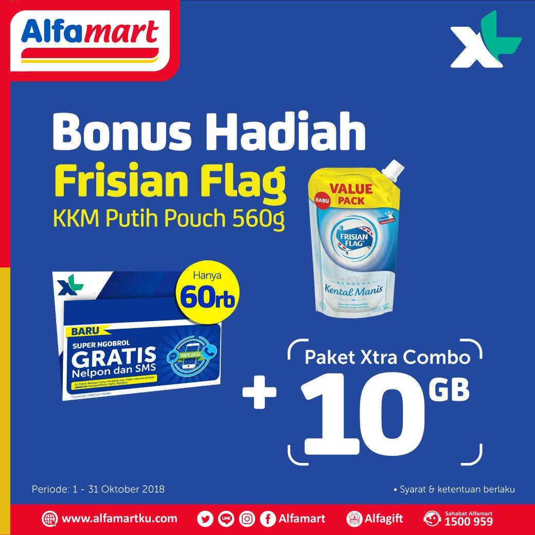 Alfamart - Promo Paket Pulsa 60 RIvu  GRATIS KKM + paket Xtra combo 10GB