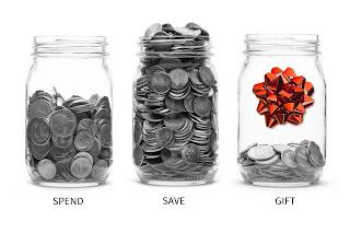 Spend Save Gift Money Jars