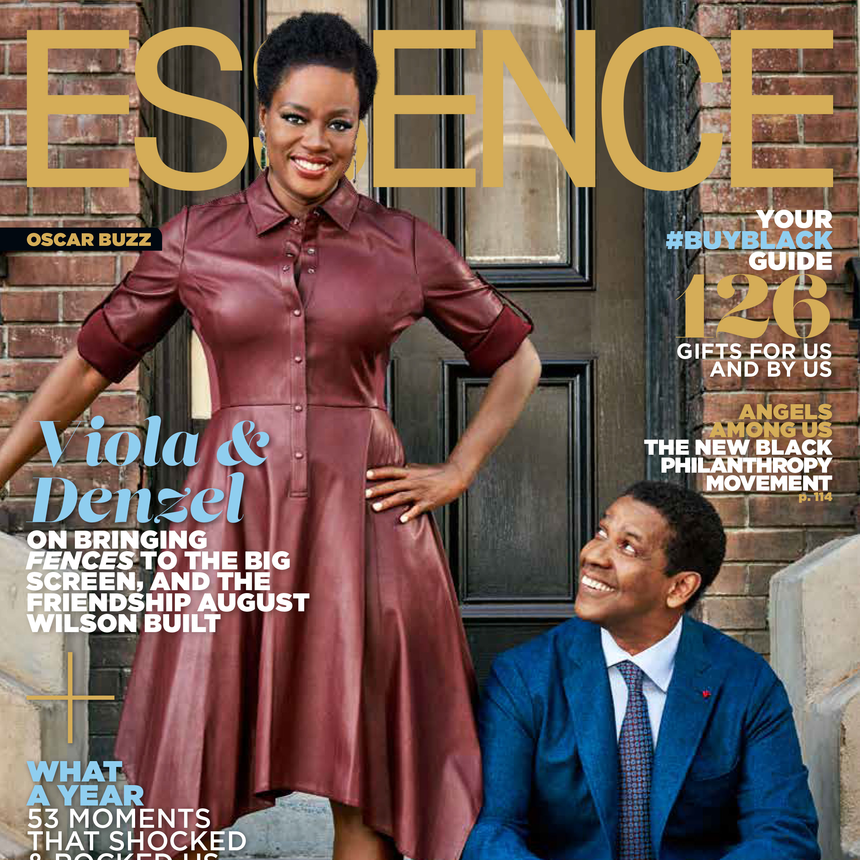 Viola Davis & Denzel Washington cover Essence Magazine's Holiday Issue