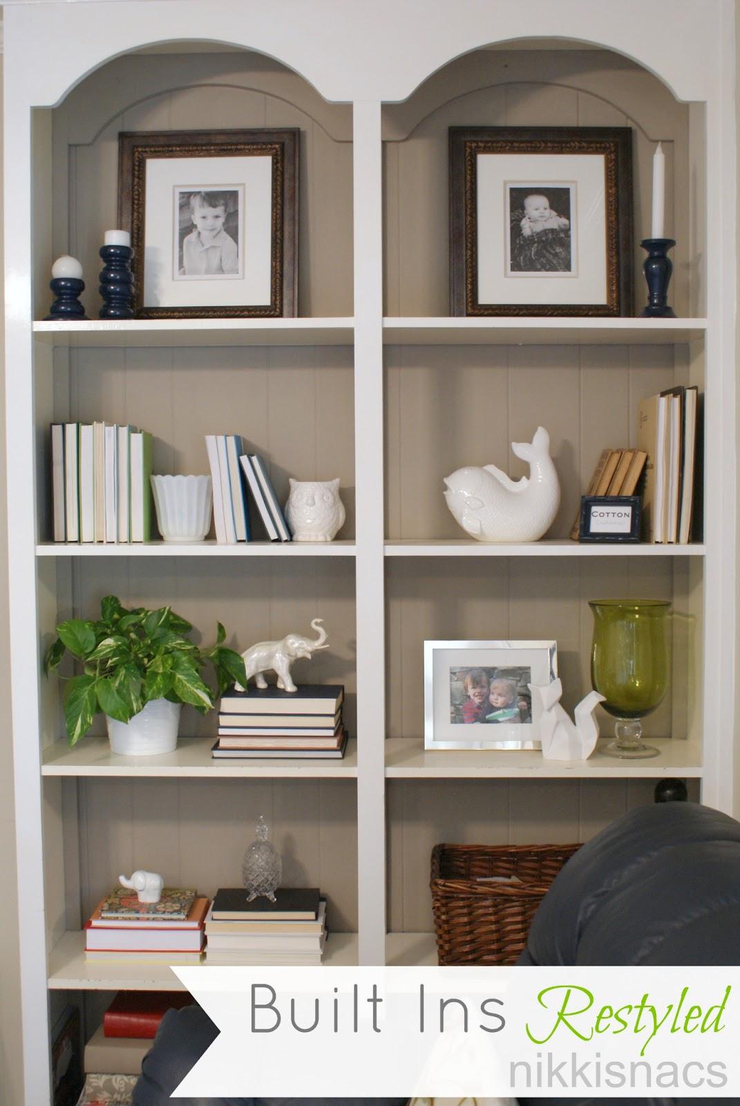 Bookshelf Decorating Ideas Pinterest: Nikkis' Nacs: The Built Ins