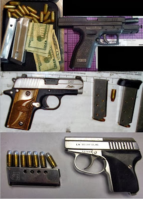 Guns Discovered at (Top to Bottom) SMF, SAT, JAN