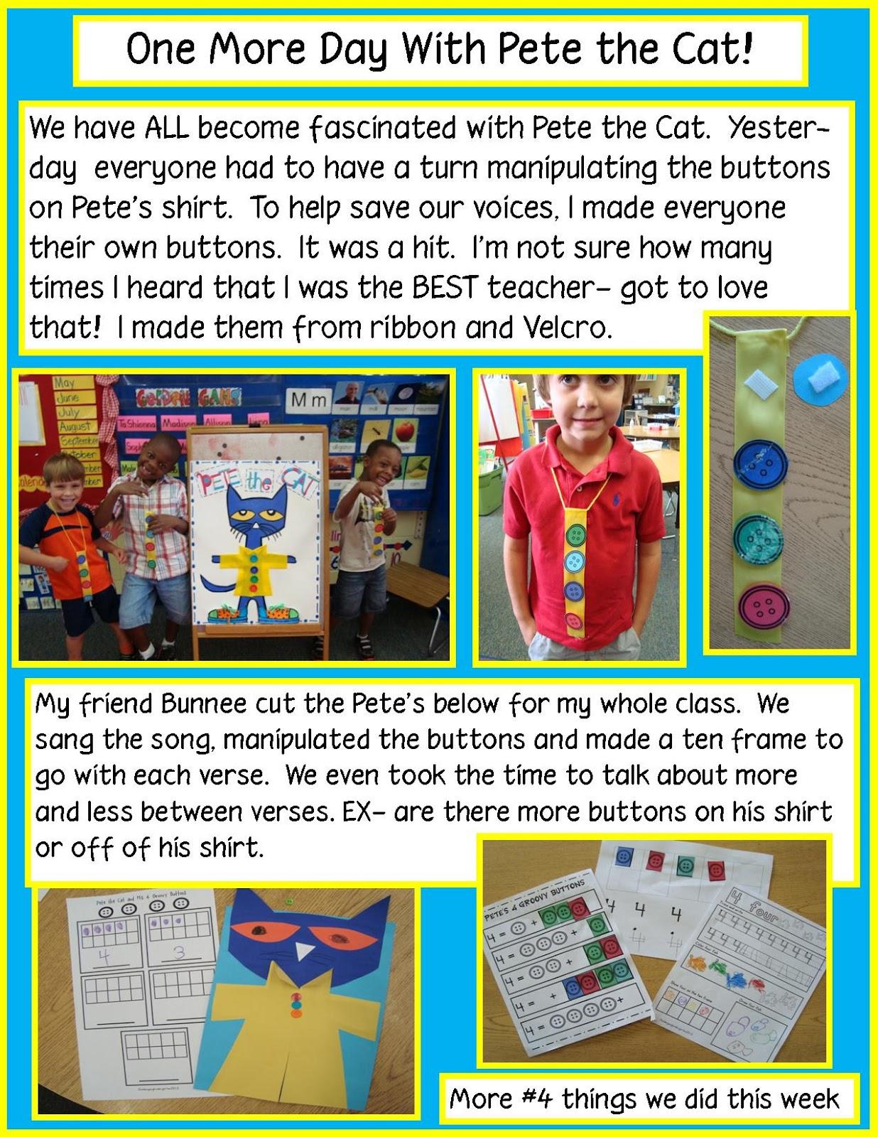 Golden Gang Kindergarten Pete S Groovy Buttons One More Day