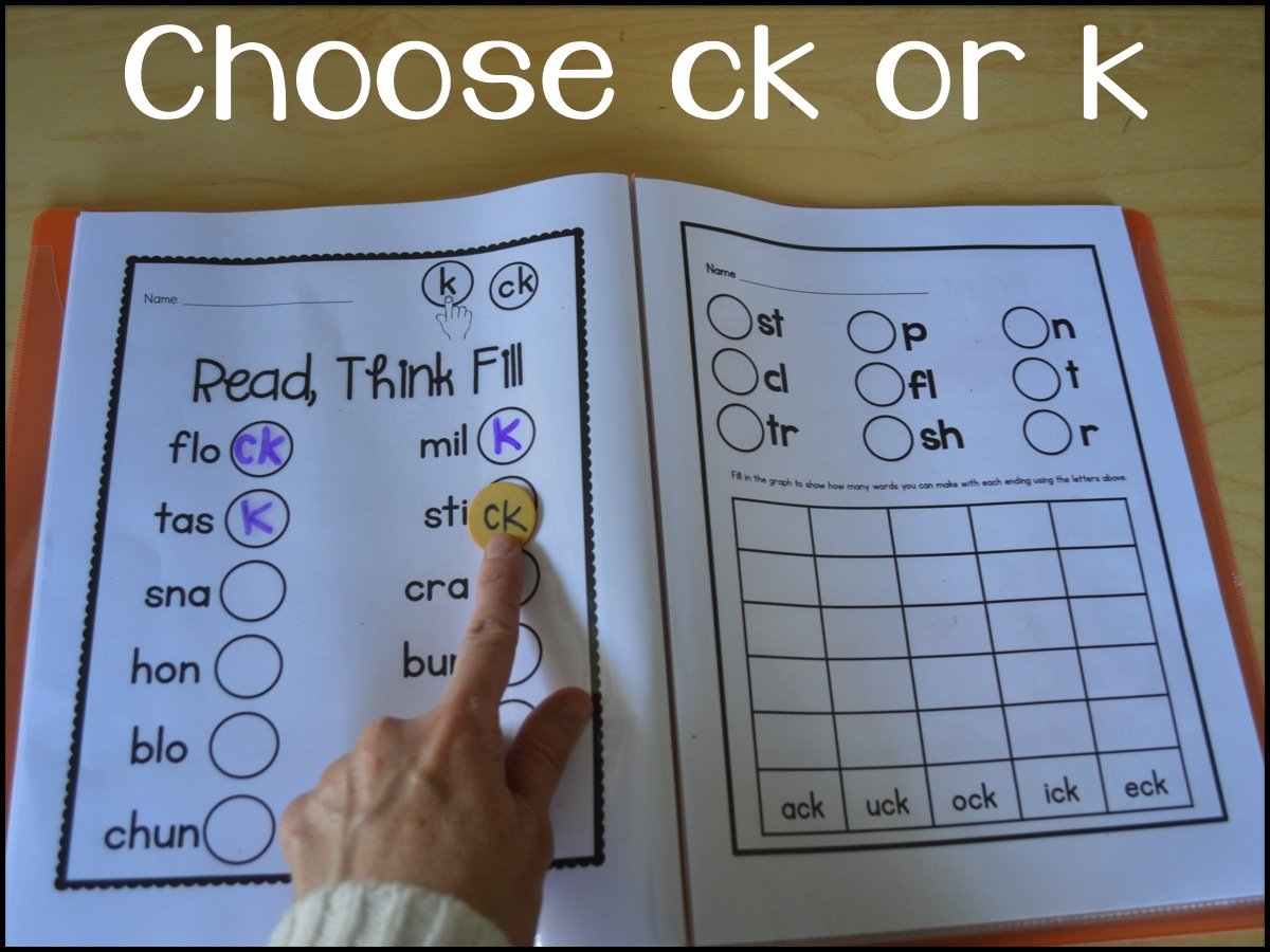 Sarah S First Grade Snippets Teaching The Ck Rule