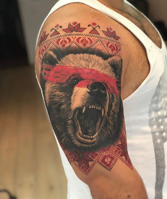bear tattoo designs for sleeve
