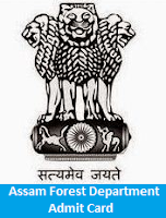 Assam Forest Department Admit Card