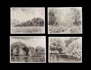 water soluble graphite drawings and paintings
