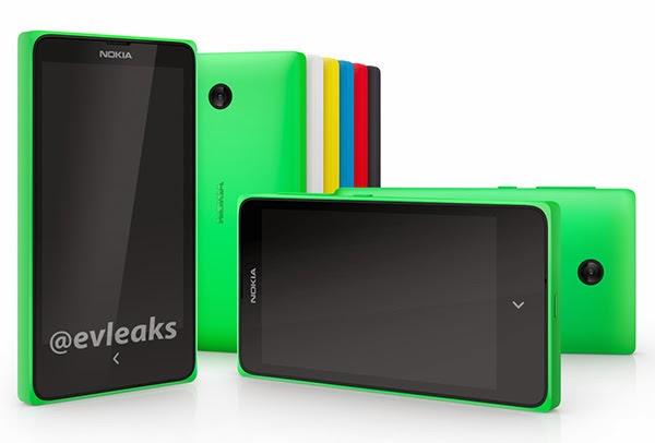 4 inçlik Android Nokia X Telefonu