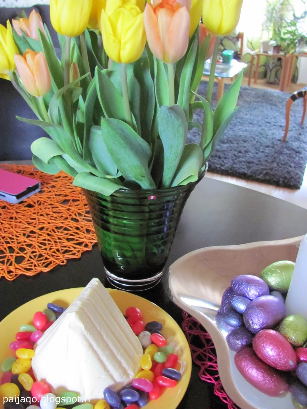 pääsiäispasha ja tulppaanit