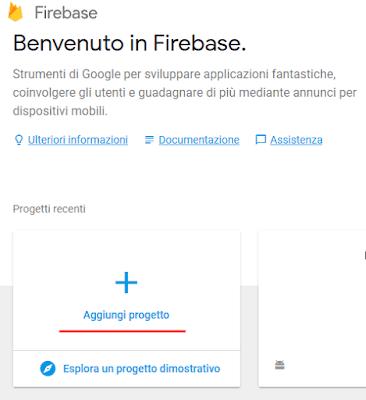 Come creare un progetto su Firebase