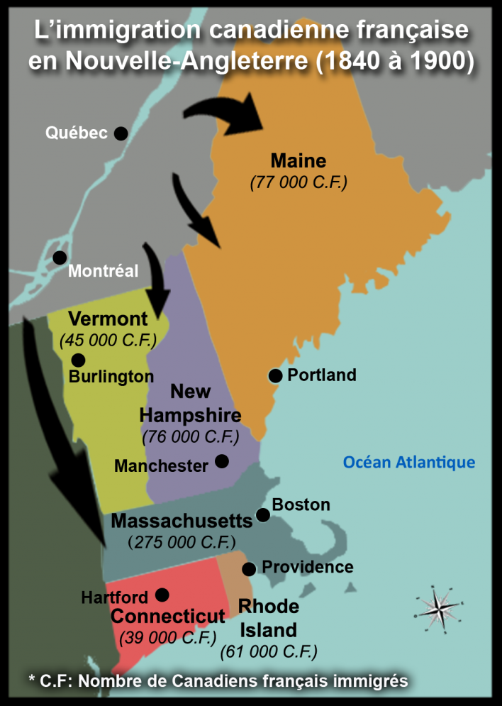 Franco-Canadian immigration from 1840 to 1900