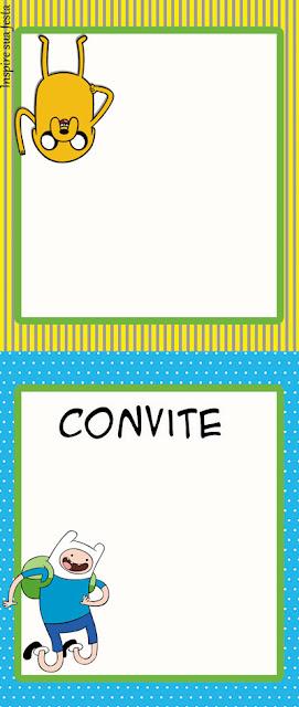 Para hacer invitaciones, tarjetas, marcos de fotos o etiquetas, para imprimir gratis de Hora de Aventuras.