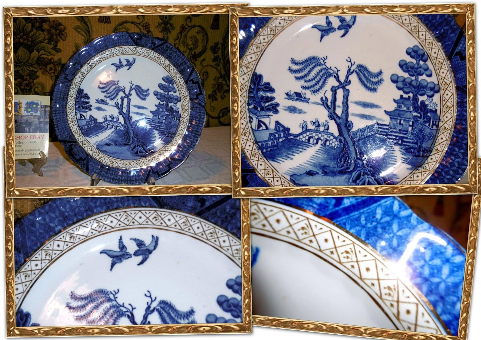 Porcellana porcellane servizio antico anchita vintage piatto
