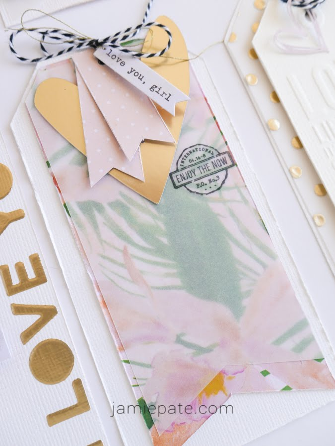 How To Make Beautiful Layered Tags with Heidi Swapp Art Walk by Jamie Pate