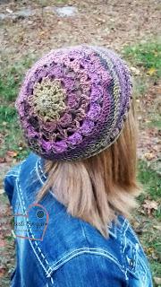 Jemma Slouchy Hat, crochet pattern,  www.KristiSimpson.net,