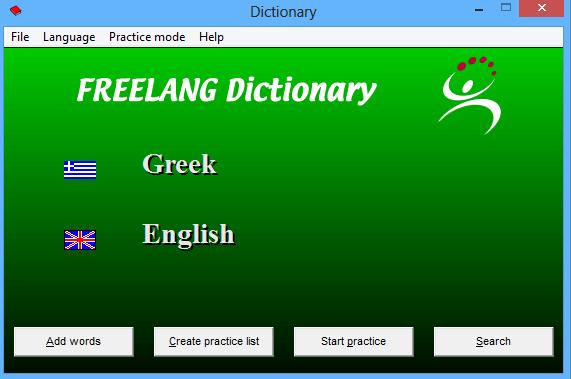 Freelang Greek-English dictionary 3.7.4 - Δωρεάν Ελληνο-Αγγλικό λεξικό και αντίστροφα