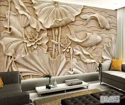Best 3D wallpaper for living room walls 3D mural designs
