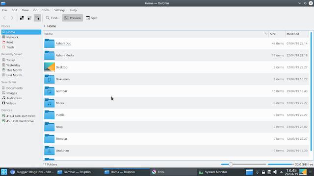 Dolphin File Manager Kubuntu