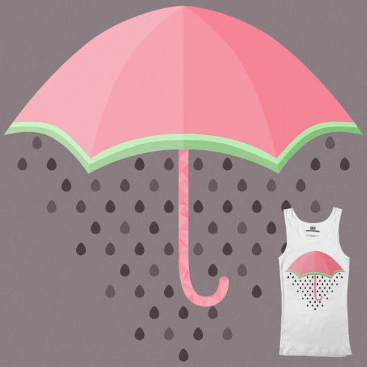 Summer Showers - My Minimalist Threadless Submission
