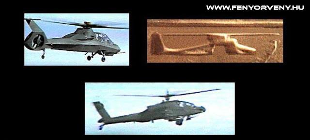 Hasonlóságok: Helikopter az ősidőkben