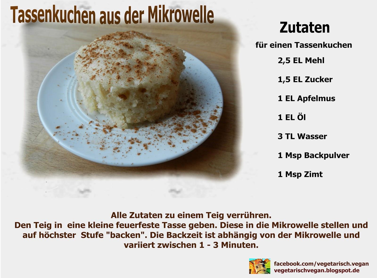 Vegetarischvegan Veganer Tassenkuchen Aus Der Mikrowelle