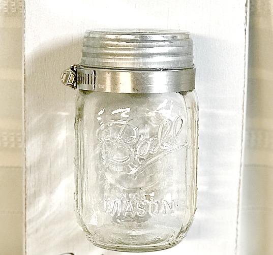 How to Make a Mason Jar Wall Vase