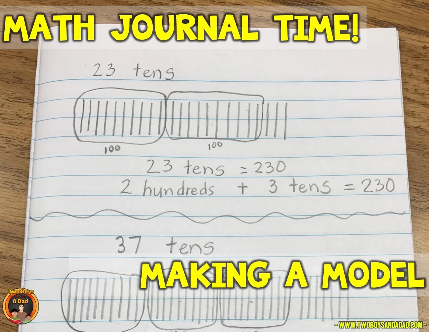 using a math journal to record place value