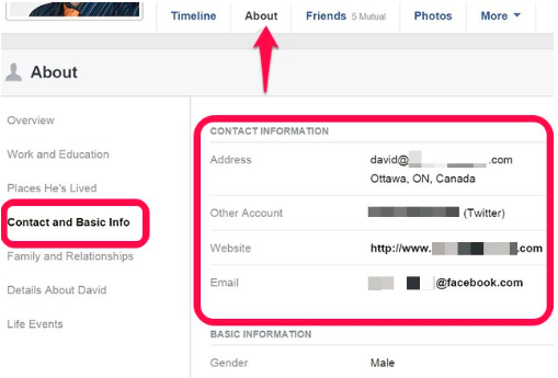How To Find Peoples Email On Facebook