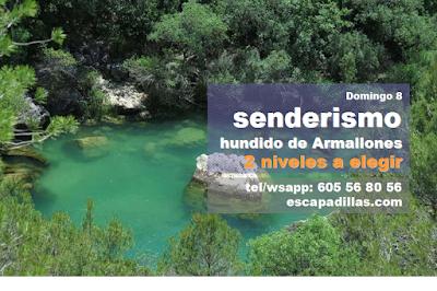 Hundido de Armallones con el grupo de senderismo - escapadillas.com