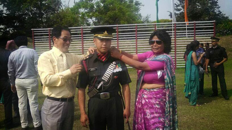 Christopher Rai From sepoy  to officer - Gorkhali Son Makes Father and Community Proud